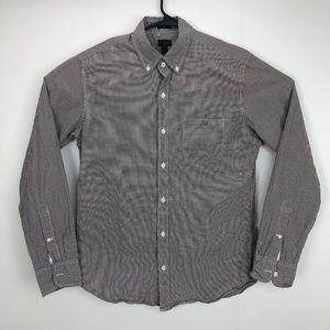 J Crew Slim Fit Button Shirt Maroon Medium
